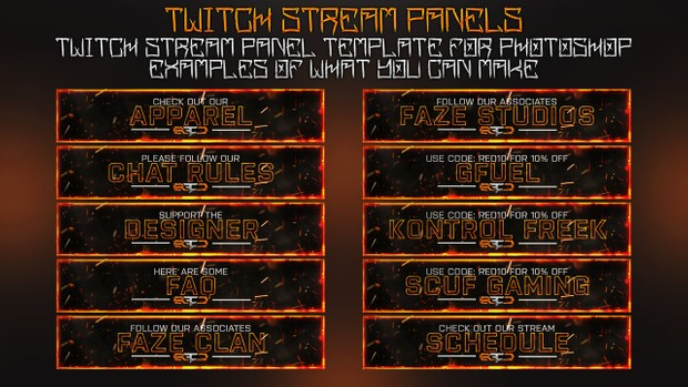 Black Ops 3 Twitch Stream Panels Template