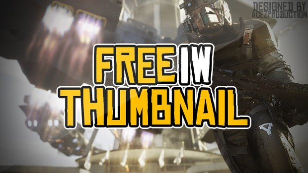Infinite Warfare YouTube Thumbnail Template Pack - Free Photoshop Template