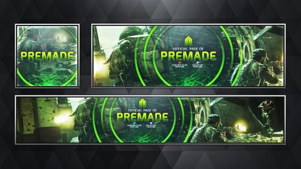 Social Media Revamp Pack V8 - Modern Warfare Remastered Edition - Photoshop Template