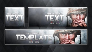 Call of Duty: World War 2 - Social Media Revamp Pack - Photoshop Template