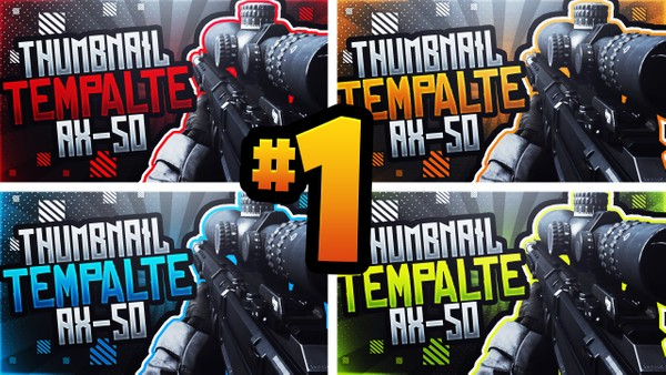 Modern Warfare YouTube Thumbnail Template Pack #1 - AX-50 Sniper Rifle Edition