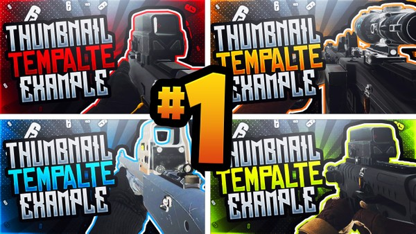 Rainbow Six Siege Thumbnail Template Pack #1 - YouTube Thumbnail Template for Photoshop