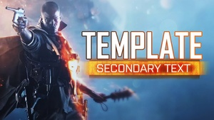 Battlefield 1 - YouTube Thumbnail Template - Photoshop Template
