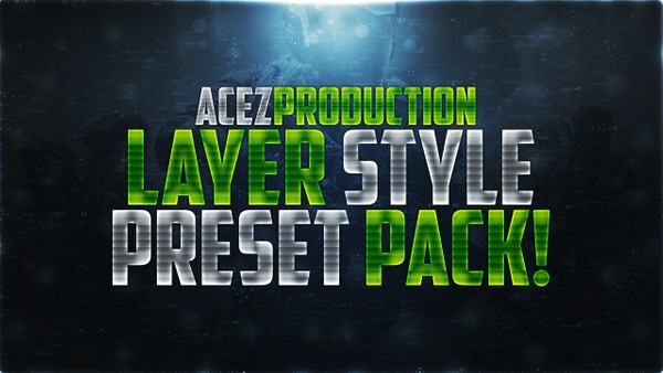 Text Layer Styles Presets - Premade Photoshop Template Pack
