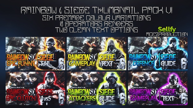 Rainbow Six Siege Ultimate Thumbnail Pack V1