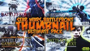 Star Wars Battlefront Ultimate Thumbnail Template V1