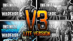 Infinite Warfare Thumbnail Template Pack V3 - Lite Version - Photoshop Template
