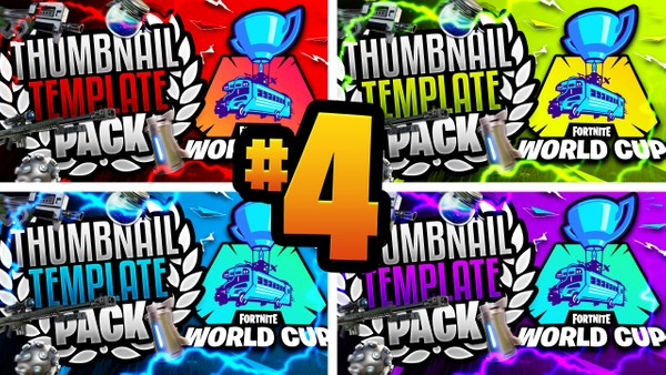 Fortnite World Cup YouTube Thumbnail Template Pack #4 - Photoshop Template