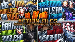 Action Files Pack V1 - DooM Clan Thumbnail Edition - Photoshop Template