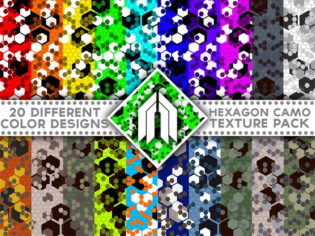 Camouflage Hexagon Pack