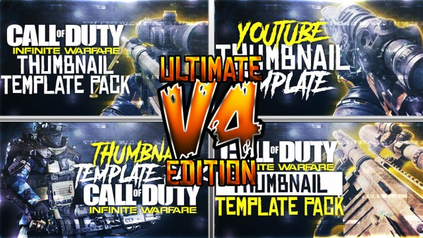 Ultimate Infinite Warfare Thumbnail Template Pack V4