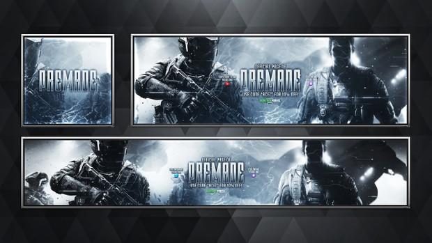 Social Media Revamp Pack V10 - Infinite Warfare Edition - Pre-made Design Service