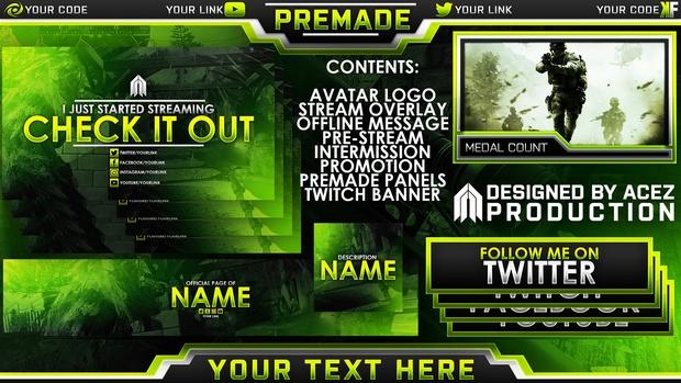 Twitch Essentials Pack - Modern Warfare Remastered Edition - Photoshop Template