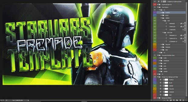 Star Wars Battlefront Thumbnail Template Pack V2 - Photoshop Template