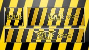 Hazard Themed Revamp Template - Photoshop