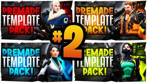 Valorant YouTube Thumbnail Template Pack #2