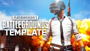 PlayerUnknown's Battleground - YouTube Thumbnail Template - Photoshop Template