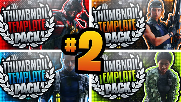 Rainbow Six Siege Thumbnail Template Pack #2 - YouTube Thumbnail Template Photoshop - Steel Wave