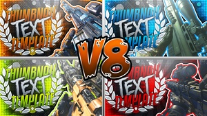 YouTube Thumbnail Template Pack V8 - Multi-CoD Sniper Rifles - Photoshop Template