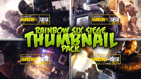 Rainbow Six Siege - Gameplay Thumbnail Template Pack - Photoshop Template