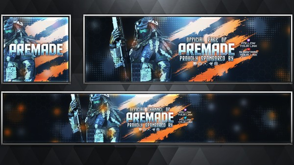 Phantom - Infinite Warfare - Social Media Revamp Pack V20 - Photoshop Template