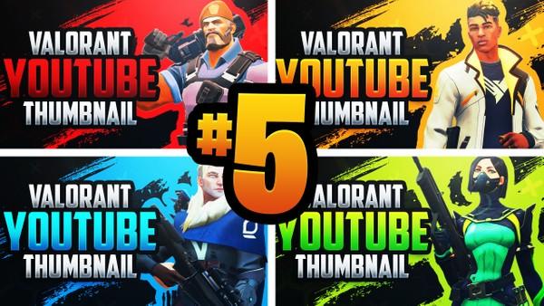 Valorant YouTube Thumbnail Template Pack #5