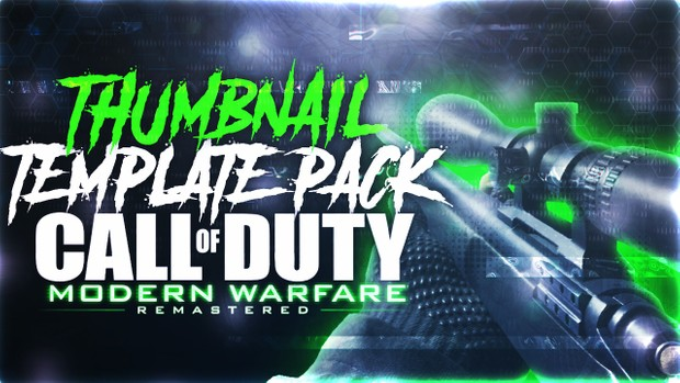 Modern Warfare Remastered - R700 Sniper Rifle Edition - Thumbnail Template Pack V4 - Photoshop