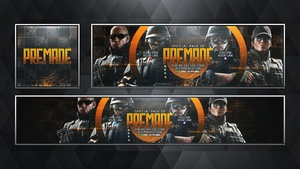 Social Media Revamp Pack V14 - Rainbow Six Siege - FBI Edition - Photoshop Template
