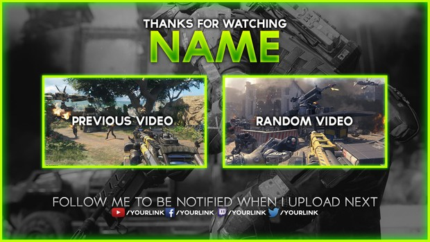 Black Ops III YouTube Outro Template