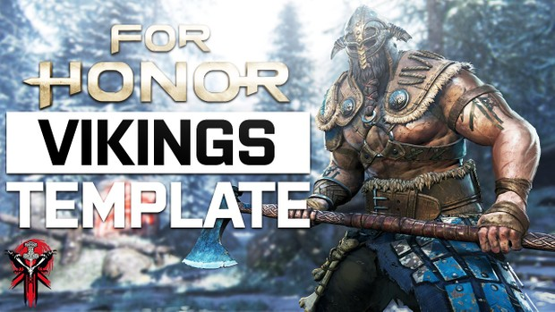 For Honor - YouTube Thumbnail Template Pack - Free Photoshop Template