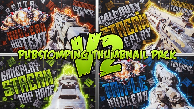 Pubstomping Thumbnail Template Pack V2 - Call of Duty: Black Ops III