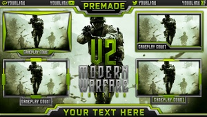 Stream Overlay Template Pack V2 - Modern Warfare Remastered Edition