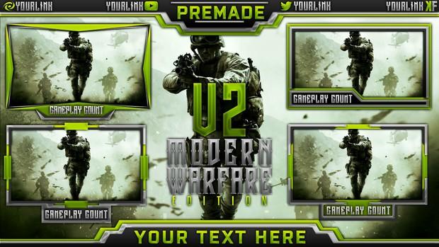Stream Overlay Template Pack V2 - Modern Warfare Remastered Edition