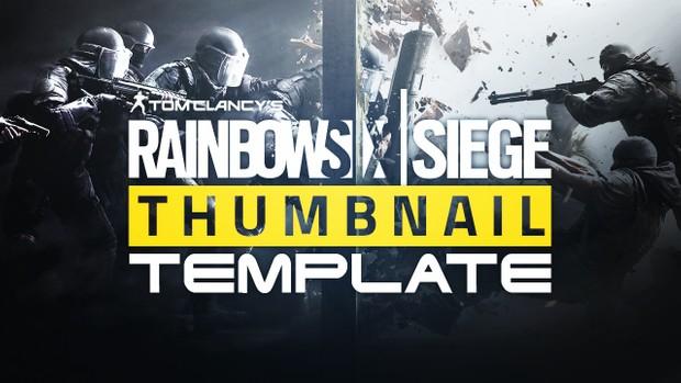 Rainbow Six Siege YouTube Thumbnail Template - Photoshop