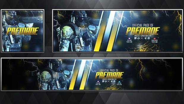 Stryker - Infinite Warfare - Social Media Revamp Pack V22 - Photoshop Template