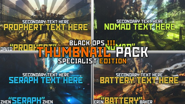 Black Ops III Specialist Thumbnail Pack