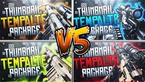 Infinite Warfare - Thumbnail Template Pack V5 - Photoshop Template