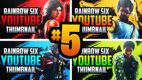 Rainbow Six Siege YouTube Thumbnail Template Pack #5 - Steel Wave