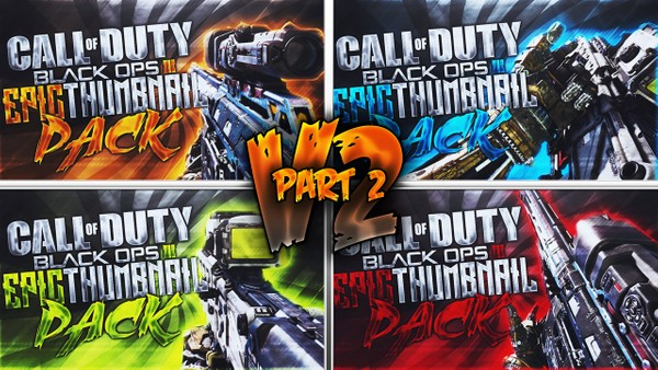 Black Ops 3 Thumbnail Template Pack V2 - SVG-100 + P-06 Sniper Rifle Edition - Part 2