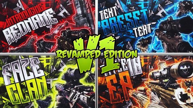 Clan Thumbnail Pack V1 - FaZe & Red Reserve - Revamped Edition