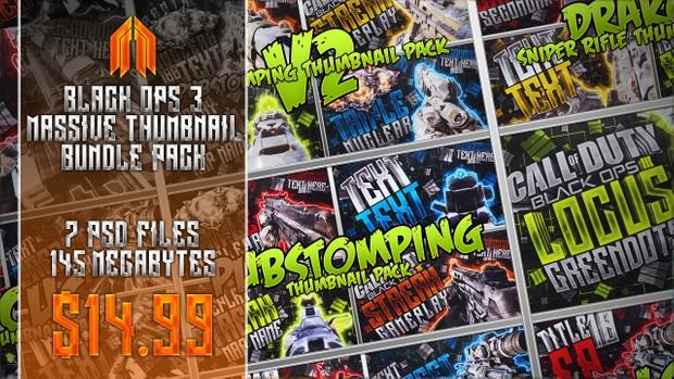 Black Ops III Thumbnail Bundle Pack - 7 Packs in 1