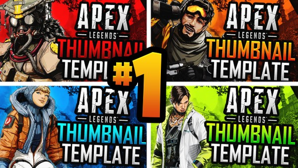 Apex Legends: Season 3 YouTube Thumbnail Template Pack #1 - Photoshop Template