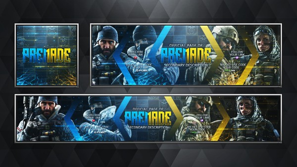 Social Media Revamp Pack V15 - Rainbow Six Siege - JTF2 & Navy Seals - Pre-made Design Service