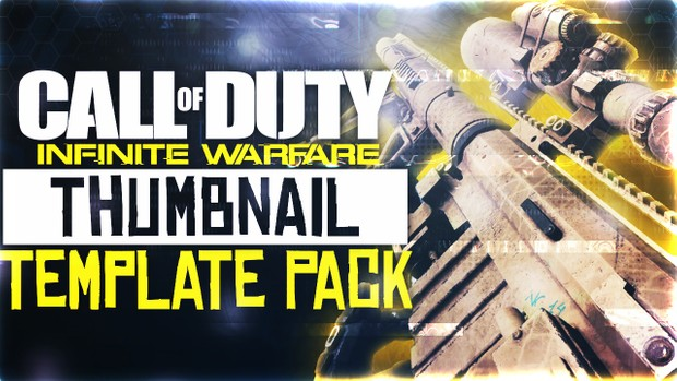 Infinite Warfare - Widowmaker Sniper Rifle Edition - Thumbnail Template Pack V4 - Photoshop