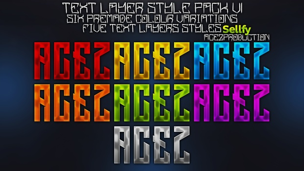 Text Layers Styles Pack V1 - Photoshop