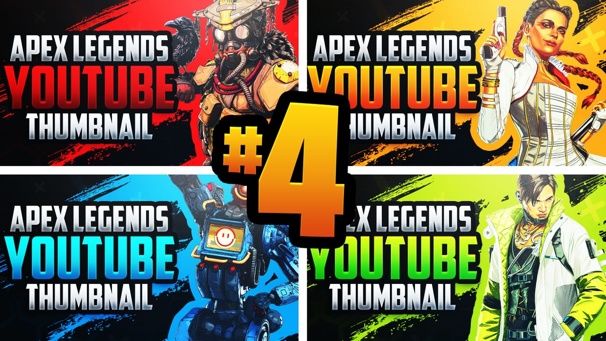 Download Apex Legends - YouTube Thumbnail Template Pack #4 - Se ...