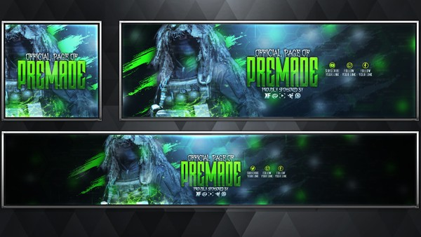 Ghillie Suit - Modern Warfare Remastered - Social Media Revamp Pack V23 - Photoshop Template
