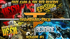 Clan Thumbnail Pack V1 - FaZe & Red Reserve Edition