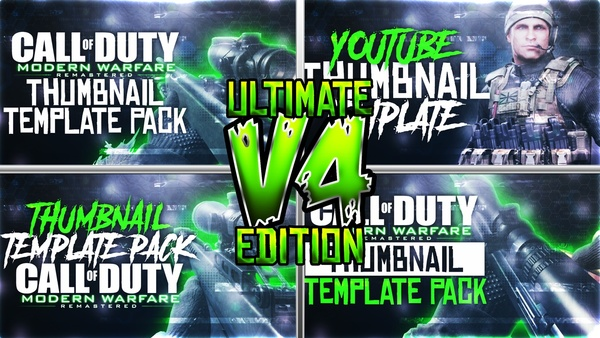 Ultimate Modern Warfare Remastered Thumbnail Template Pack V4