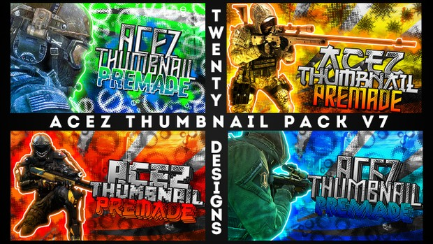 Thumbnail Pack V7 - Soldier Pop-Outs